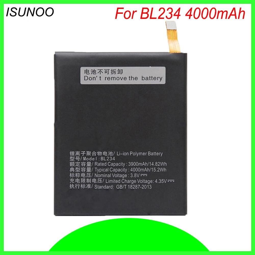 ISUNOO 4000 mAh BL234 BL 234 BL-234 batería para Lenovo A5000 Vibe P1M P1MA40 P70 P70t P70-T batería del teléfono móvil