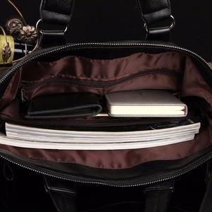 Image 5 - MYOSAZEE célèbre marque hommes mode Simple affaires porte documents sac mâle en cuir pour ordinateur portable sac décontracté hommes voyage sacs épaule