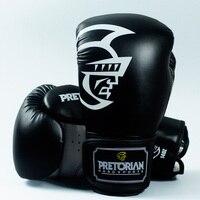 10 12 14 16oz BLACK Pretorian Grant Boxing Gloves MMA Gear Taekwondo Fight Kick Mitts Glove