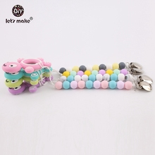 Let's make 4pcs Wholesale Silicone Tortoise Dummy Clip Chain Baby Nursing Teething Cartoon Pendant Chewable Beads Pacifier Clips