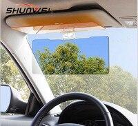 Car Anti Abbagliamento Occhiali A Specchio Visiera Parasole Auto Protezione Solare Ombra Parasole Dell'automobile con Visione Notturna Occhiali + Occhiali Da Sole