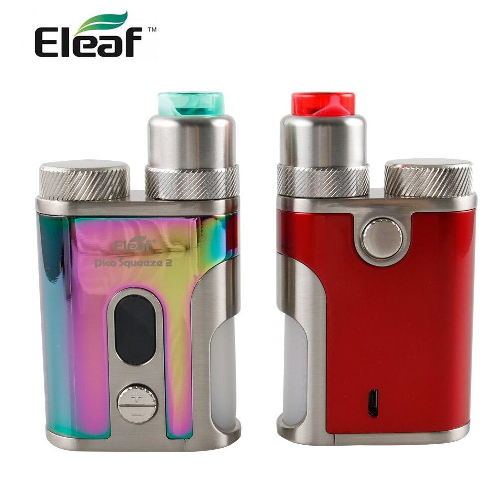 En STOCK Original Eleaf Pico presser 2 Kit avec corail RDA 2 atomiseur 6.5 ml capacité 100 W sortie boîte Mod cigarette électronique kit