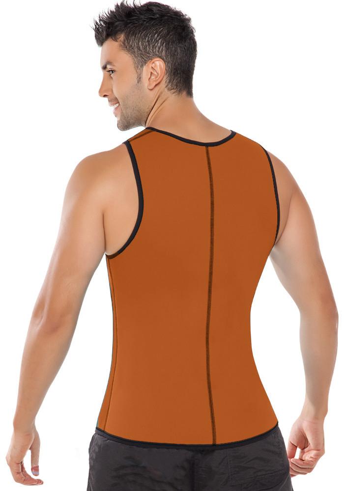 Men Latex Ultra Sweat Hot Waist Trainer Body Shaper Slimming Fit Vest Neoprene Front Zipper Fat Borning Control Top Shapewear (9)