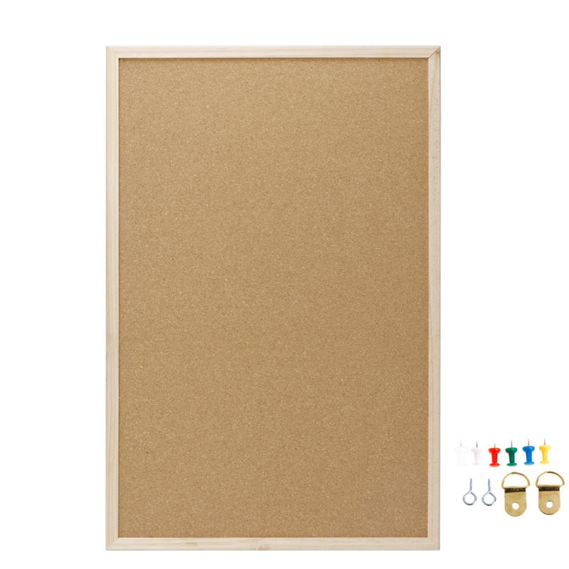 40x60cm Cork Board Drawing Board Pine Wood Frame White Boards Home Office Decorative 1