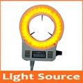 12 в 60 шт. светодиодные лампы микроскоп 63 мм Диаметр кольцевой лампы источник света для биологического стерео микроскопа 90-240 В