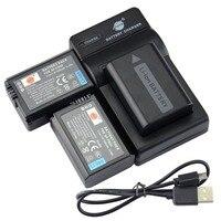 DSTE 2PCS NP FW50 Li Ion Battery UDC107 USB Port Charger For Sony NEX 7 NEX