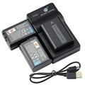 DSTE 3pcs NP-FW50 Battery + UDC107 usb charger For Sony NEX-7 NEX-5N NEX-F3 NEX-5R NEX-6 NEX-3 NEX-3A  NEX-3D