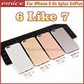 Новый Корпус Для iPhone 6 6 S 6 Plus 6 sPlus Как 7 Алюминия металлический Корпус Назад Крышка Корпуса Дверь Батареи Замена Как i7 стиль