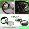 1Pair 75mm Push Truck Blind Spot Mirror Round, Car Wide Angle Convex Mirror Rear Side View Mirror Black/Silver Free Shipping
