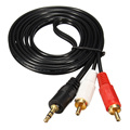Hot 1.5M/3.0M/5M 3.5mm Jack To 2 RCA Audio Cables 3.5 Male To RCA Male Gold Plated Coaxial Aux Cable For Laptop TV DVD Amplifier