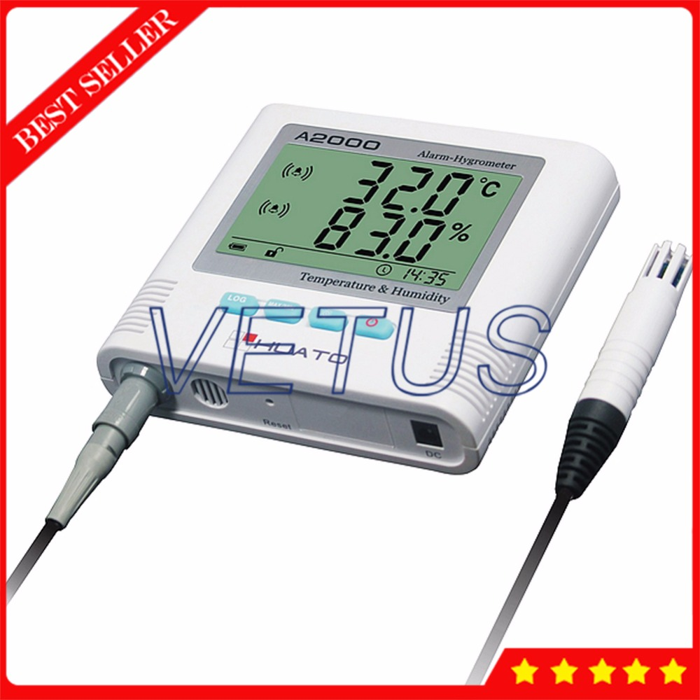 все цены на A2000-EB 3 meters cable External sensor Digital thermo-hygrometer with temperature humidity meter Sound Light Alarm function