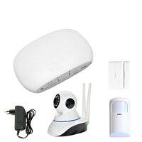 Super Mini WIFI Home Security Alarm System DIY Kit with Motion Detect PIR Door Window Sensor Burglar Alarm with Free APP Monitor