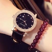 Marca Cuero Genuino Femenino Clcoks Damen Fashion Top Quaity Mujer Impermeable Estudiante de Lujo Vestido de Relojes Con Calendario