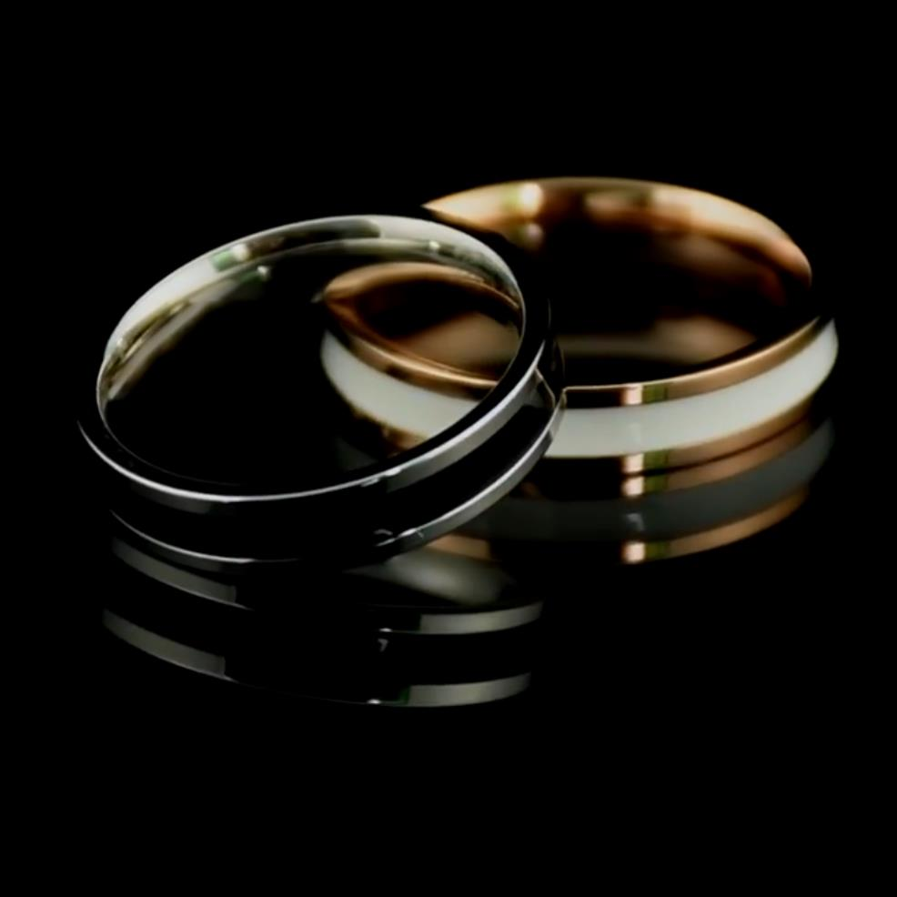 Simple Design Hoop Titanium Stainless Steel Ring For Men Women Couple Anniversary Wedding Band Ring Jewelry US Size 3 10 in Wedding Bands from Jewelry Accessories