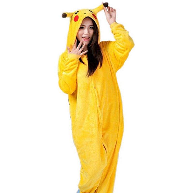anime cosplay pokemon pikachu sleepwear regino knitting adult footed girls pajamas 2015 carnival halloween costume for - Pikachu Halloween Costume Women