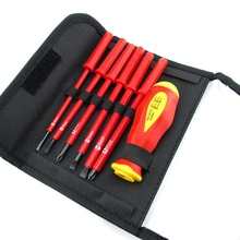 цена на 7 in 1 Multifunction Screwdriver Set Magnetic Silica gel+steel Screw Driver Slotted Phillips Screwdrivers Hand  screwdriver set