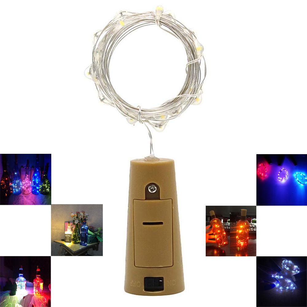 1M 10LEDs 3.28ft LED Garland Copper Wire Corker String Fairy Lights For Glass Craft Bottle Christmas/Valentines/PartyDecoration