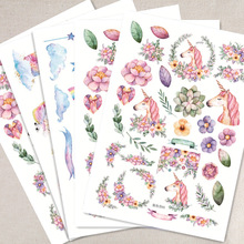 Creative Kawaii Unicorn Sticky Paper Cute Decorative Stickers For Diary Photo Album Scrapbooking Free Shipping