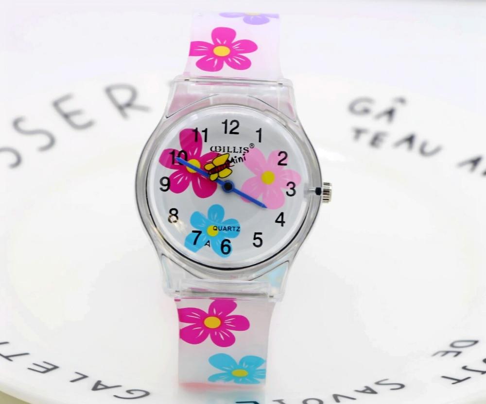 2019 New Women Girls Students Floral Ultra-thin All Digital Quartz Watches Soft Strap Water Resistant Fashion Relogio Feminino