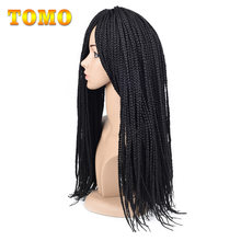 "TOMO 22Roots/Pack 14"" 18"" 22"" Box Braid Crochet Braids Hair Extensions Ombre Synthetic Kanekalon Braiding Hair Dreadlocks Men(China)"