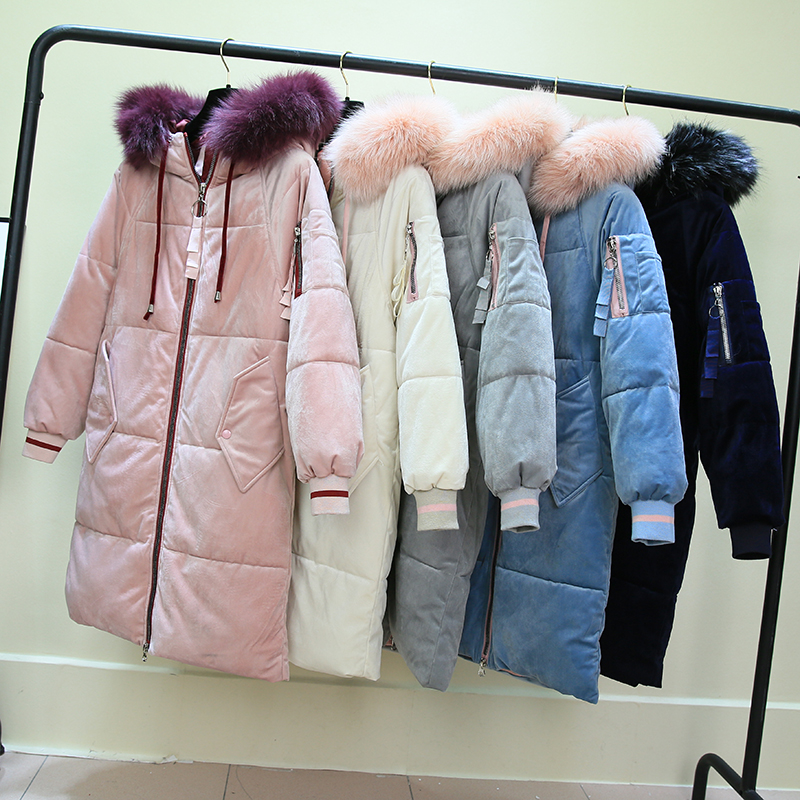 Brave Winter Women Jacket Medium Long Hooded Parkas Thickness Large Raccoon Fur Collar Duck Down Coat Female Snow Outerwear To Reduce Body Weight And Prolong Life