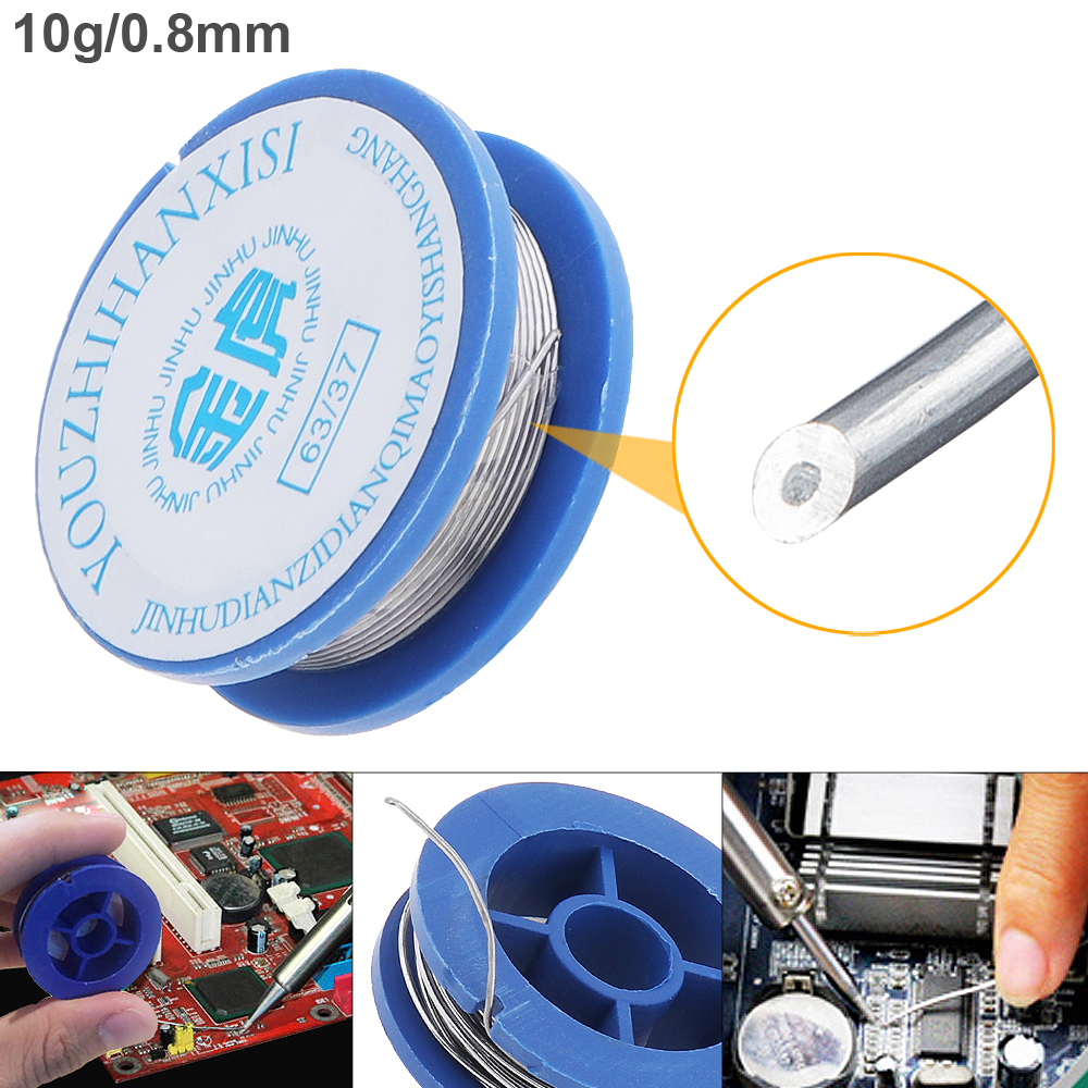 цена на 63/37 10g 0.8mm High Purity Rosin Core Solder Wire with 2% Flux and Low Melting Point for Electric Soldering Iron