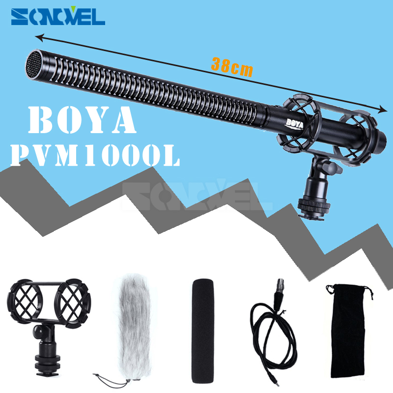 BOYA BY-PVM1000L Professional Broadcast Condenser Shotgun Interview Microphone for Canon Nikon Sony Video Cameras & Camcorders