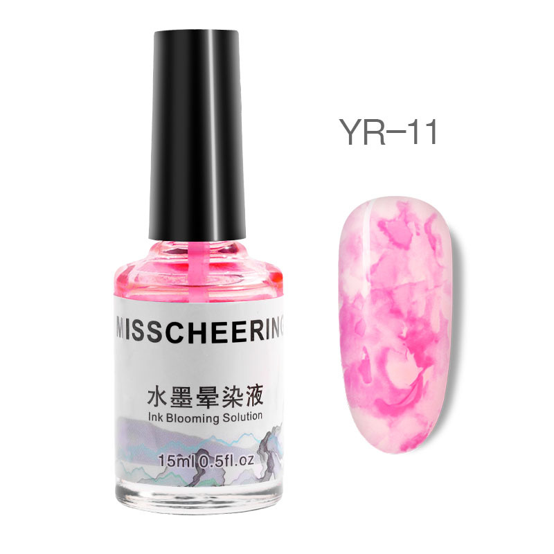 1Bottle Ink Nail Polish Blooming Gel 15ml Smudge Bubble Ink DIY Effect Manicure Varnish decoration in Nail Polish from Beauty Health