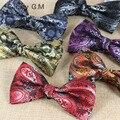 Hombre corbata mariposa vintage papillon mariage kravat bowtie 2016 de seda masculina paisley corbatas de alta calidad de la boda