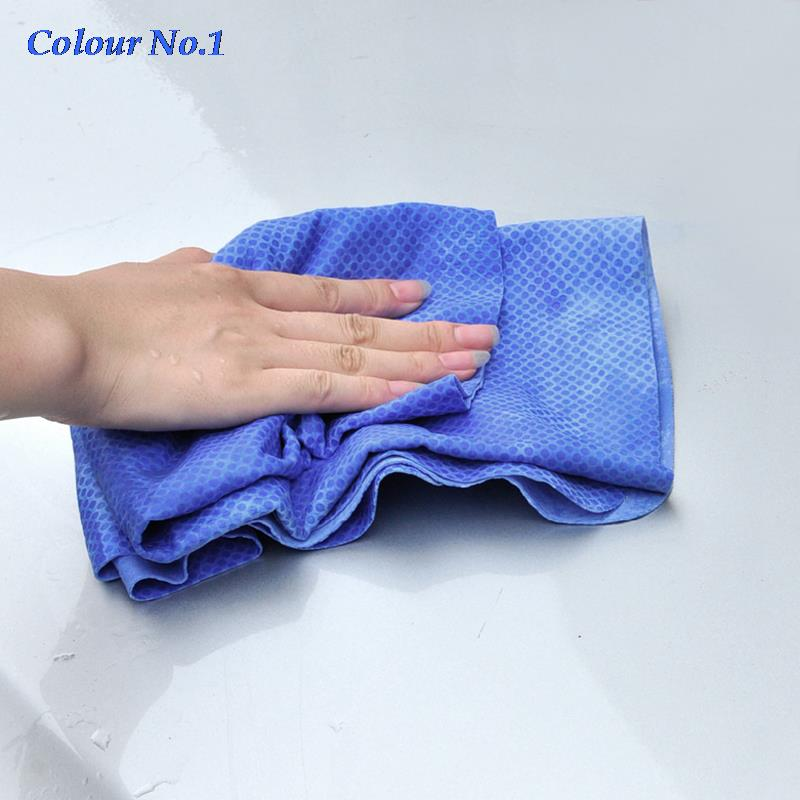 Super Absorption Synthetic Deerskin PVA Chamois Cham Car Wash Towel Artificial Leather Auto Care Clean Towel Blue