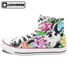 Original Design Converse Chuck Taylor Tattoo Shoes Women Men Hand Painted High Top Canvas Sneakers Skateboarding Shoes