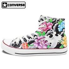 Original Design Converse Chuck Taylor Tattoo Shoes Women Men Hand Painted High Top Canvas Sneakers Skateboarding Shoes