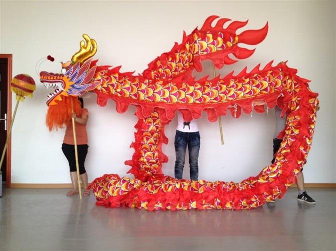 18m dolžina svilene tkanine kitajski DRAGON PLES ORIGINAL Dragon Kitajski folk folk festival Praznovanje kostum