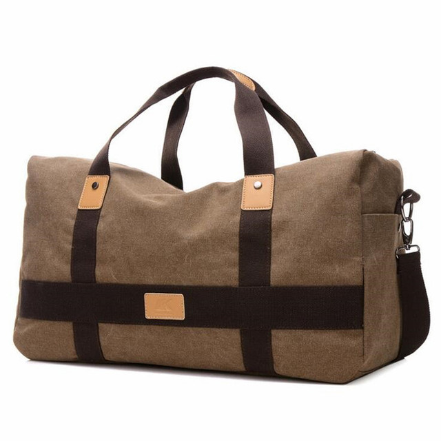 7835007d8588 The large capacityCanvas handbag Brand high quality strong men s travel bag  leisure Weekend Bag Travel Tote Duffel Bags