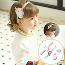 Korea Cute Crown Hair Accessories For Girls Clips  Cartoon Fashion Headband Glitter Hairband Rainbow Hairpins