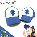 Climate 2017 nueva primavera verano gravedad caídas u. s de dibujos animados mabel dipper pinos cosplay fresco de malla gorras de béisbol ajustable sombrero del deporte