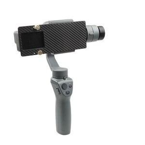 Image 5 - Soporte para Cámara de Acción GoPro Hero 6 5 4 3 soporte de adaptador de cardán de mano impreso 3D para DJI OSMO Mobile 2 1