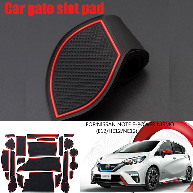 Car Interior Cup Mat Door Gate Slot Pad Non-slip Gate Slot Cup Pad Anti-dirty Pad For NISSAN NOTE E-POWER NISMO(E12/HE12/NE12)