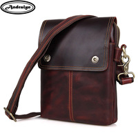 Andralyn 2018 Winter New Vintage Crazy Horse Leather Shoulder Bags For Men Genuine Leather Men S