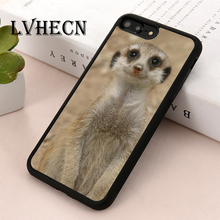 a8505cf124d LvheCn de la piel del TPU del teléfono cubierta de la caja para iPhone 5 5S  SE 6 6 s 7 7 plus X XR Xs max sonriente lindo ardill.