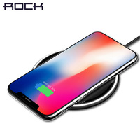 For IPhone Samsung 10W QI Wireless Charger ROCK Desktop Smart Phone Qi Wireless Charger For IPhone
