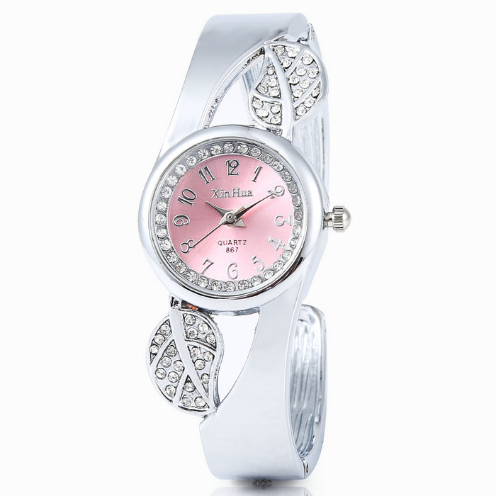 New Fashion Girl Women Bracelet Watch Analog Leaf Buds ...