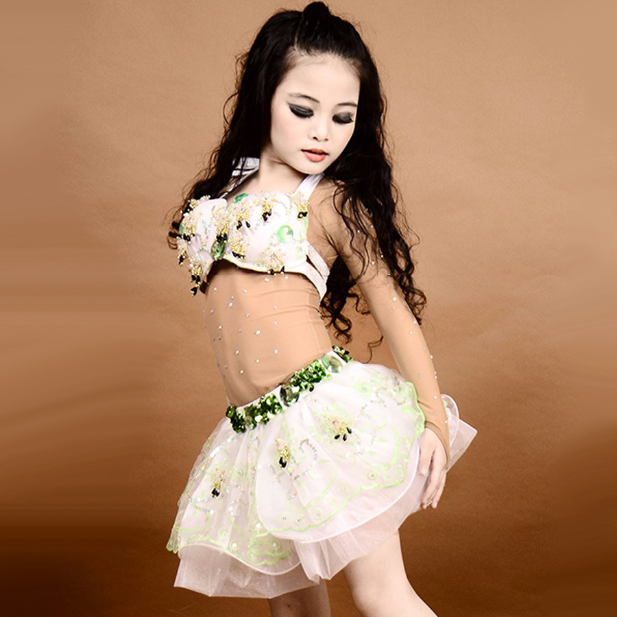2016 high grade kids belly dance costumes top u0026bra holder u0026skirt
