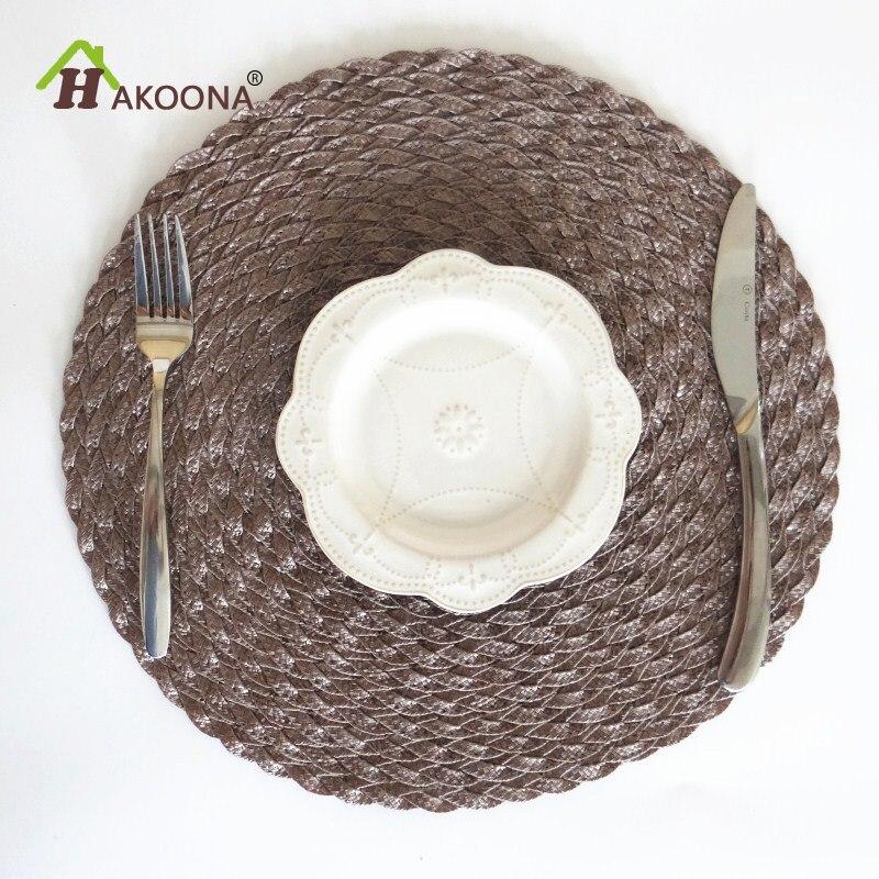 Schon HAKOONA Küche Tisch Matten Runde 36 Cm * 36 Cm Tischsets 4 Stücke Perle Sammlung  Garten Party Coral Woven Tischset