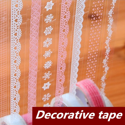 18 pcs/Lot Lace Adhesive tape Decorative stickers Stationery for scrapbooking foto Masking tape School supplies new design retro style ship car travel old style vintage diy decorative washi tape diary deco masking tape scrapbooking stickers