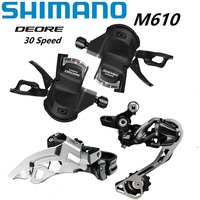 SHIMANO DEORE M610 3*10 20/30 Speed Derailleurs Set Shift Lever / Front Derailleur / Rear Derailleur MTB Mountain Bike Shifter