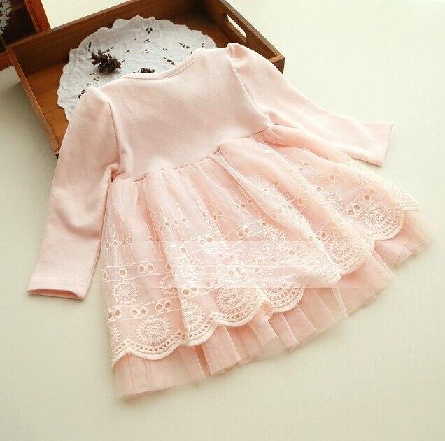 2019 Spring and autumn 0-2 yrs baby clothing floral lace lovely princess newborn baby tutu dress infant dresses vestido infantil 2