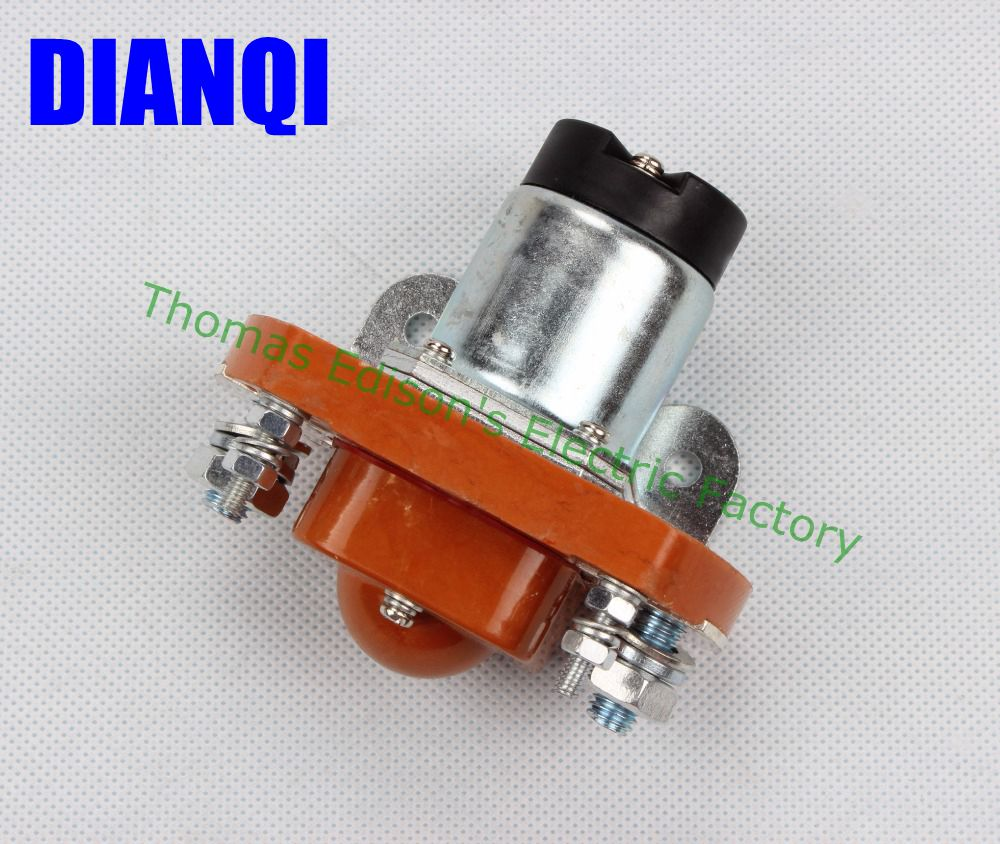 цена на ZJ200A normally open style Coil Voltage 12V 200A DC Contactor for motor forklift electromobile grab wehicle car winch