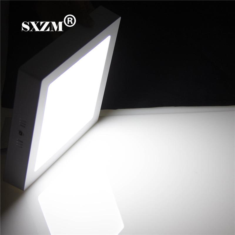 SXZM Square AC110 220V LED panel 6W surface mounted lights & lighting white/warm white led panel with led driver RoHS CE цена