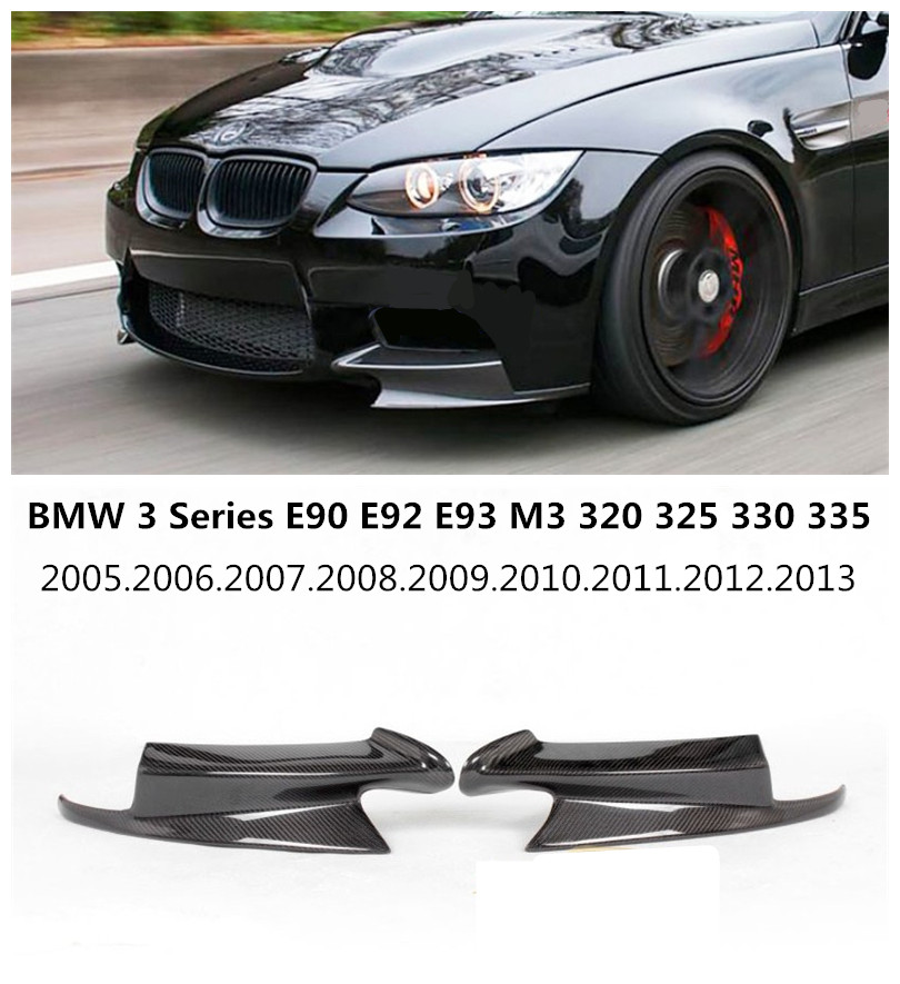 For BMW 3 Series E90 E92 E93 M3 2005-2013 Carbon Fiber Front Lip Spoiler High Quality Car Bumper Diffuser Free shipping